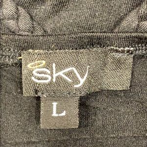 Sky Tops - Rhinestone black dressy tank